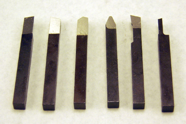 Toolbit Set 1/4 inch Square HSS (6 Pieces)