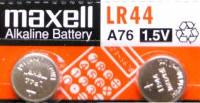 Maxell Button Cell Battery - LR44 - twin pack